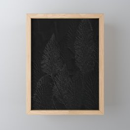 Embossed Leaves Framed Mini Art Print