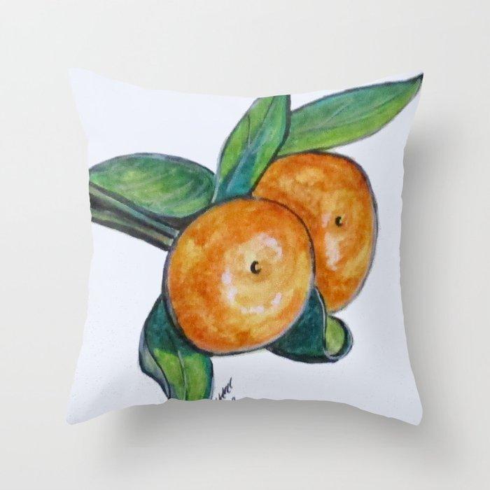 Two Oranges Throw Pillow