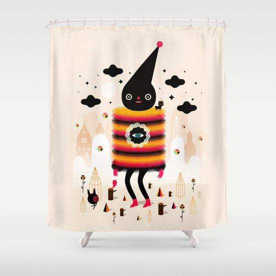 Mr. Wooly Shower Curtain