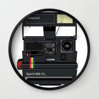 polaroid Wall Clocks featuring Polaroid by Chris Redford