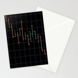 Bars and fractal Stationery Cards