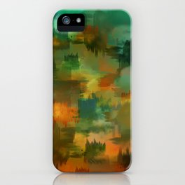 """Abstract forest in Autumn"" iPhone Case"