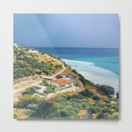 Samos, Greece After A Storm (Square) Metal Print