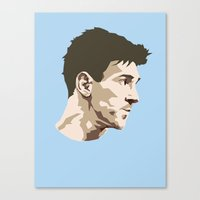 messi Canvas Prints featuring Messi by The World Cup Draw