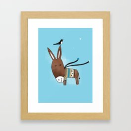 Happy Donkey Framed Art Print