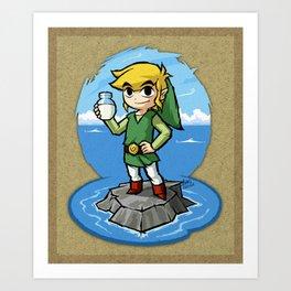 Legend of Zelda Wind Waker Bottle of Milk T-Shirt Art Print