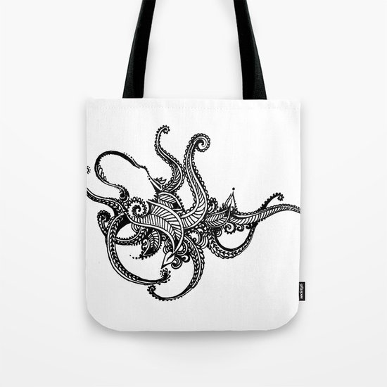Henna Octopus  Tote Bag