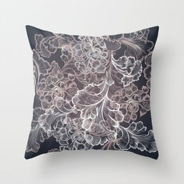 Design in classic Victorian style Throw Pillow