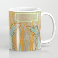 foxes Mugs featuring Foxes by Ariel Wilson