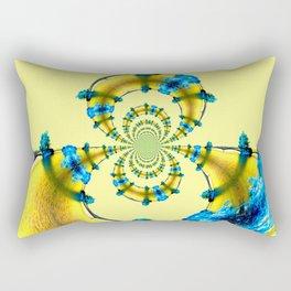 Vague dorée... Rectangular Pillow