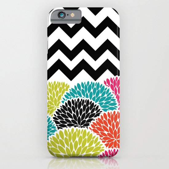 Tropical Flowers Chevron iPhone & iPod Case
