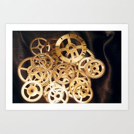 Gears & Leather Art Print
