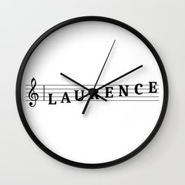 Name Laurence Wall Clock