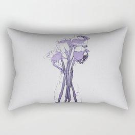 Rose III Hue Rectangular Pillow