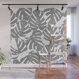 Monstera deliciosa Minimalistic black and white Wall Mural