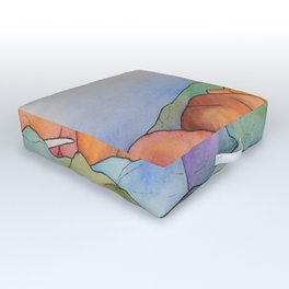 Warm Walrus Contemplating Cool Wishes Outdoor Floor Cushion