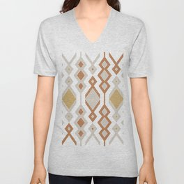 Tribal shapes 1.0 - Autumn colors Unisex V-Neck
