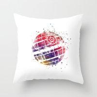 death star Throw Pillows featuring Star . Wars Death Star by Carma Zoe