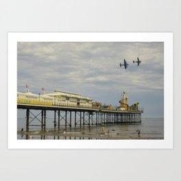 Paignton Pier Memorial Flight Art Print