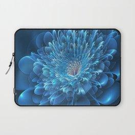 3D Blue Flower Laptop Sleeve
