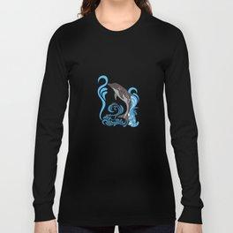 Dolphin Splashing Long Sleeve T-shirt
