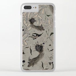 Lost. It's where she feels at ease. Clear iPhone Case