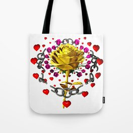 Love rose breaks all chains, hatetolove Tote Bag