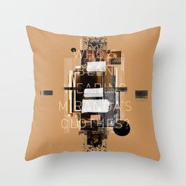 """Filthy Lesson"" Graphic Art Print Throw Pillow"