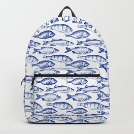 Dark Blue Fish Backpack