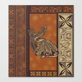 Hawaiian - Samoan Hula Tapa Board Print Canvas Print