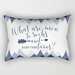 Pride & Prejudice - Mountains Rectangular Pillow