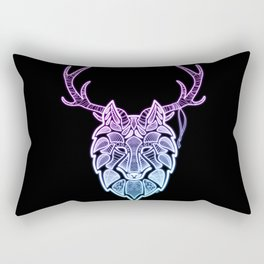 Neon Rithe Wolf Rectangular Pillow