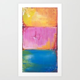 Cube Colors Art Print