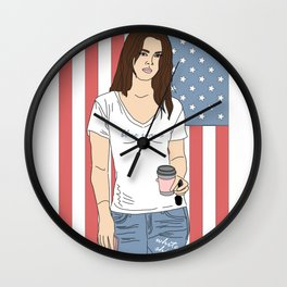 Blue Jeans, White Shirt - Lana Luva Illustration Wall Clock