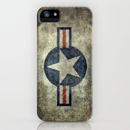 US Airforce style Roundel insignia V2 iPhone Case