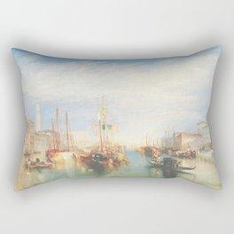 Venice from the Porch of Madonna della Salute by Joseph Mallord William Turner ca. 1835, British Rectangular Pillow