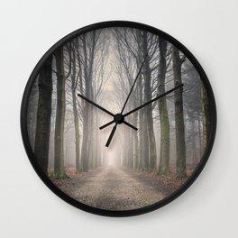 Through the Misty Wood Wall Clock
