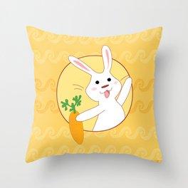 Carrot Time! Throw Pillow