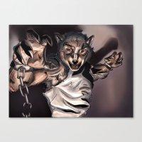 werewolf Canvas Prints featuring Werewolf by Craig Holland Illustration