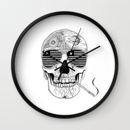 GONZO SKULL (INK ONLY) Wall Clock