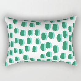 Minimal white and green dots pattern polka dot print basic decor Rectangular Pillow