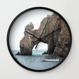 The Arch in Los Cabos Mexico Wall Clock