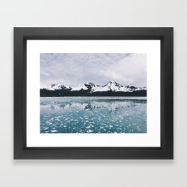 Icy Kenai reflection Framed Art Print