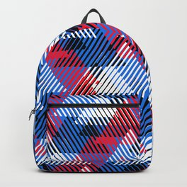 Geometric pattern with striped triangles Backpack