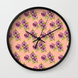 Jessica Peach Wall Clock