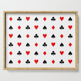 Playing cards pattern Serving Tray