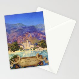 Broadmoor Hotel, Colorado Springs landscape by Maxfield Parrish Stationery Cards