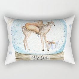 Christmas deer #3 Rectangular Pillow