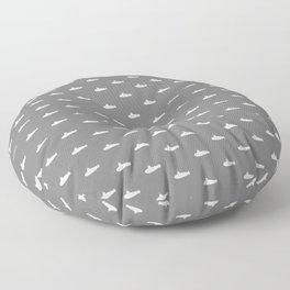 Tiny Subs - Gray Floor Pillow