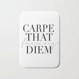 CARPE DIEM SIGN, Office Sign,Office Wall Art,Carpe That Fucking Diem,Enjoy Today,Relax Sign,Home Dec Bath Mat